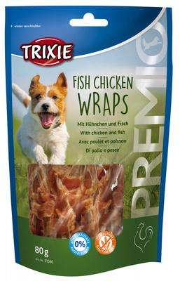 Trixie Fish Chicken Wraps лакомство для собак с курицей и рыбой, 80 г