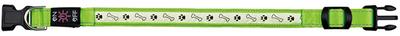 Trixie Illuminous USB - ошейник зеленый светящийся, размер S-M 30-40см/25мм