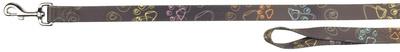 Trixie Jimmy - поводок коричневый с лапками, размер XS-S 1,2м/15мм
