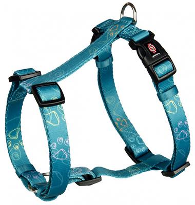 Trixie Jimmy - шлея для собак синяя с лапками XS-S 30-40см/15мм