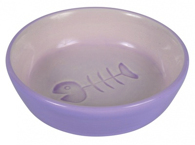 Trixie Keramiknapf с рыбкой - миска керамическая для кошек, 24492