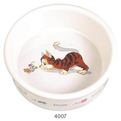 Trixie Keramiknapf - миска керамическая для кошек, с рисунком, 0,2 л / диаметр 11 см, 4007
