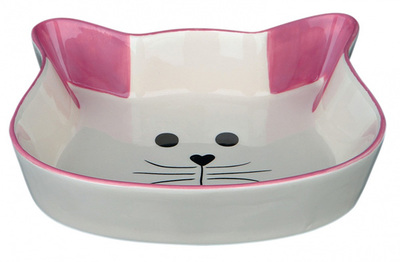 Trixie Кошачья мордочка - миска для котов 0,25л/12 см