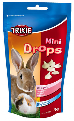 Trixie Mini Drops йогурт - витамины для грызунов, 75 г