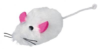 Trixie мышка меховая мышка с пищалкой 9 см