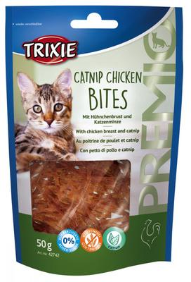 Trixie Premio Catnip Chicken Bites лакомство для кошек с куриным филе и кошачьей мятой, 50 г