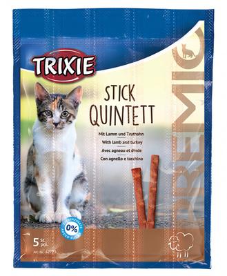 Trixie Premio Quadro-Sticks палочки для кошек с индейкой и ягненком, 5шт по 5 г