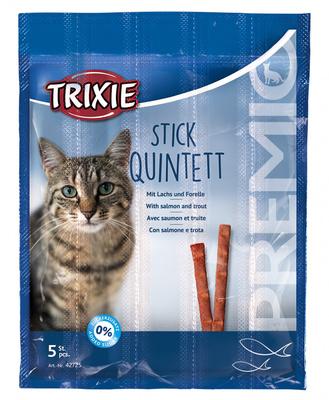 Trixie Premio Quadro-Sticks палочки для кошек с лососем и форелью, 5шт по 5 г