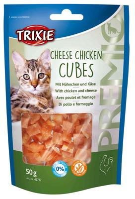 Trixie Premio сырные кубики для котов со вкусном курицы и сыра, 50гр 42717