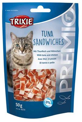 Trixie Premio Tuna Sandwiches лакомство для кота с тунцом и курицей, 50гр, 42731