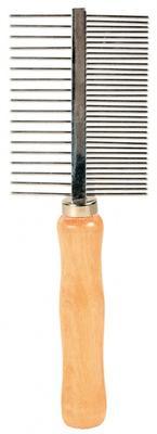 Trixie расческа для собак металлическая с деревянной ручкой, 17см. 2396