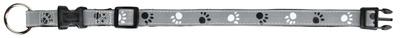 Trixie Silver Reflect - ошейник светоотражающий с лапками M-L 35-55см/20мм