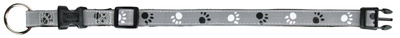 Trixie Silver Reflect - ошейник светоотражающий с лапками, размер XS-S 22-35см/15мм