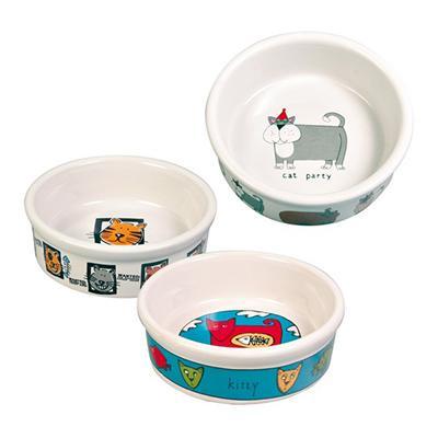 Trixie Sortiment Keramiknäpfe три мотива - миска керамическая для кошек, 4008