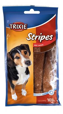 Trixie Stripes - лакомство для собак с ягненком 100 г (10шт)