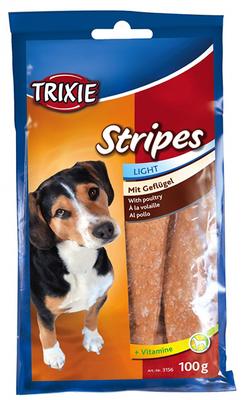 Trixie Stripes Light - лакомство для собак с мясом домашней птицы 100 г (10шт)