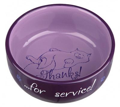 Trixie Thanks for Service - миска для котов 0,3л/11 см