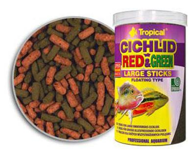 Tropical Cichlid Red and Green Large Sticks - для цихлид, 1 л, 63736
