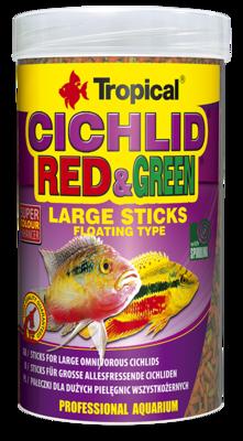 Tropical Cichlid Red and Green Large Sticks корм в больших палочках для цихлид, 1 л