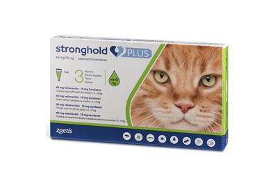 Капли на холку Zoetis Stronghold Plus 60 мг/10 мг от блох, клещей, гельминтов у кошек 5-10 кг 1 пип 1 мл